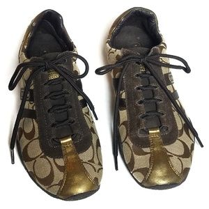 Coach Kate Signature Tennis Shoes 7.5M Sneakers